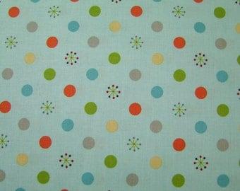 Blue Jungle Dots  1 Yard Life in the Jungle Doohikey Designs Riley Blake Sale