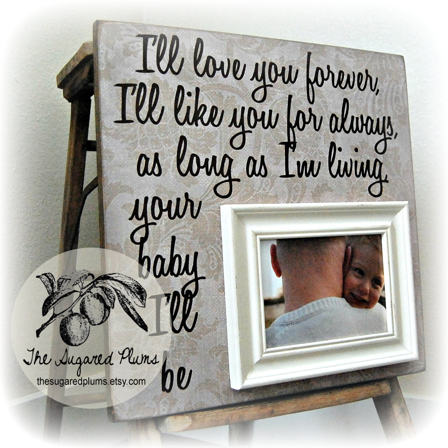 Fathers Day Photo Frame Fathers Day Gift Gift For Grandpa