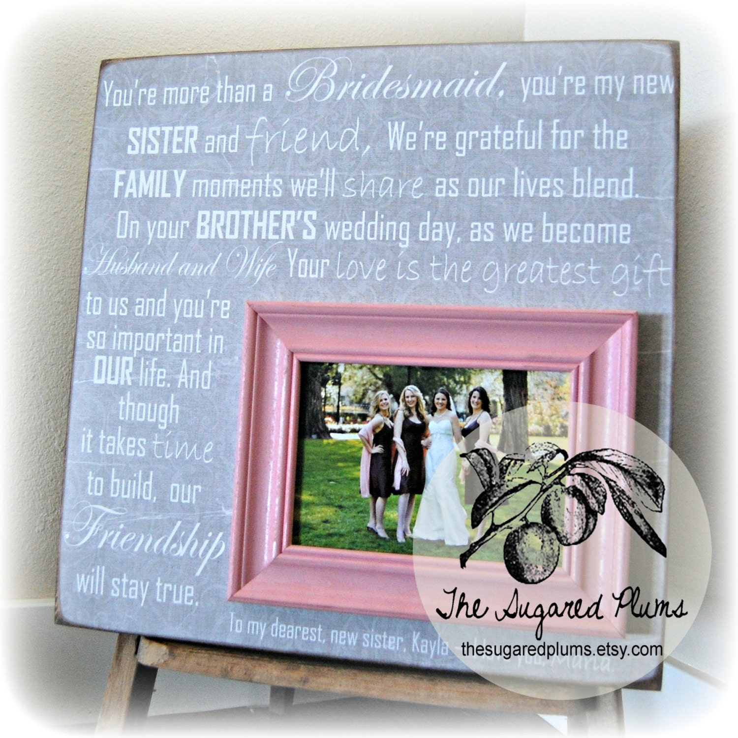 Wedding Gifts For The Bride From A Sister : Bridesmaid Gift Best Friend Sister Maid of Honor Wedding