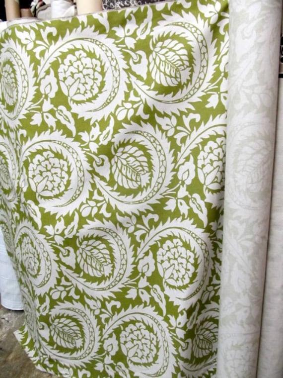 Lisbon Olive designer, decorator/drapery/bedding/upholstery fabric