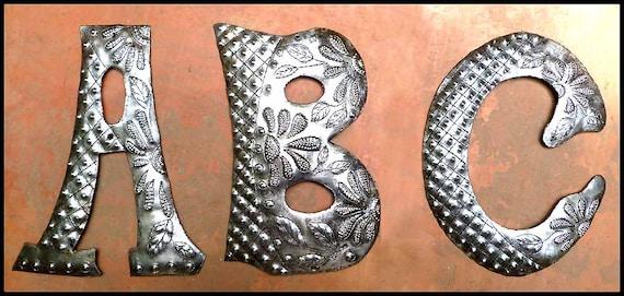 Outdoor Metal Monogram Letters 1 Metal Letter Monogram Initial 12 Haitian Art