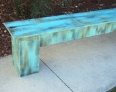 Country Cottage Coffee Table, Rustic Wooden Bench, Style Coordinates With Headboards