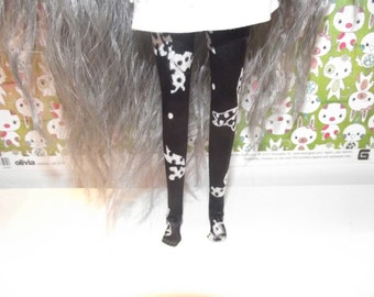 A nice pair of black tights with white bows for Pullip doll