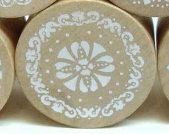 Vintage Lace Pattern Rubber Stamp