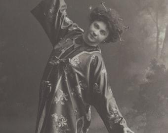Beautiful Russian Dancer in Oriental Silks, circa 1910