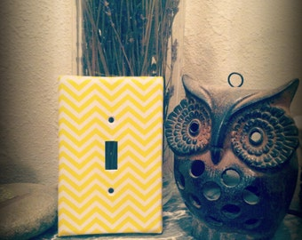 Chevron Light Switch Cover~Ready to ship~Free Shipping