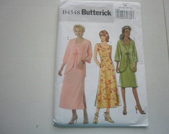Pattern Ladies Jacket and Dress set - Sizes 8 to 14   Butterick 4548