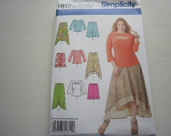 Pattern Ladies Skirts and Tops Sz 10 to 18 Simplicity 1812
