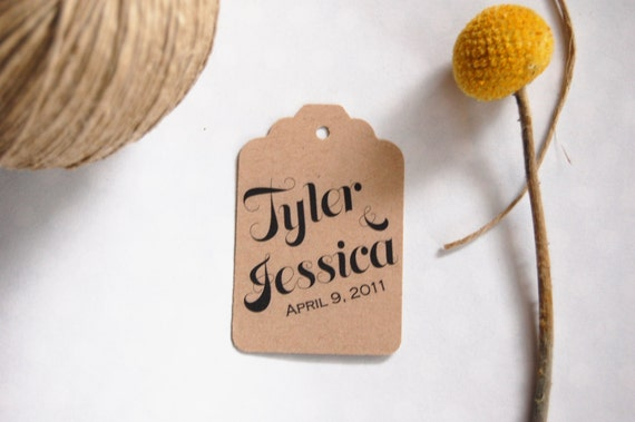Names and Date Script Favor tags
