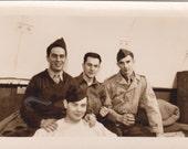 Soldiers - Vintage Photograph, Vernacular, Ephemera, Military Photo  (RR)