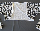 BOLERO - Cycling Bolero/Shrug -Black and white skulls Print