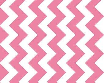 "Chevron Hot Pink Medium Chevron for Riley Blake, 1/2 yard, 57""/58"" wide"