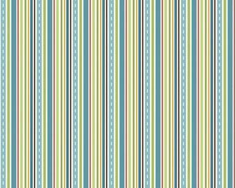 Cruiser Blvd Stripe Blue by Sheri McCulley Studio for Riley Blake, 1/2 yard