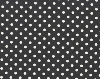 Baby Dumb Dot Charcoal for Michael Miller, 1/2 yard cotton fabric