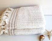 Organic Turkish Cotton Soft Naturel Set of 2 Organic,Ecofriendly Turkish Hand Towels