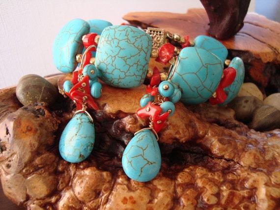 Sedona bracelet and earrings set