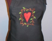 Valentine Full Apron - Heart and Vines