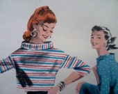 50s Cigarette Leg Pants Capris and Boxy Top Sewing Pattern Butterick 7557 Bust 29 Audrey Hepburn Style SEE DESCRIPTION