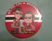 """chicago  blackhawks blues brothers  3"""" button"""