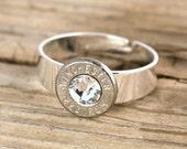 Bullet Ring / 223 Nickel Bullet Adjustable Ring WIN-223-N-BR / Adjustable Ring / Adjustable Bullet Ring / Nickel Ring / Nickel Bullet Ring