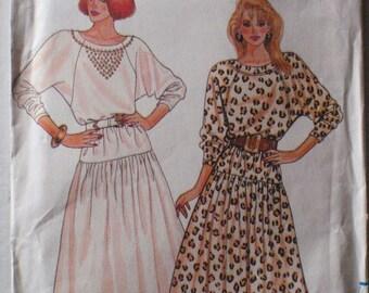 Women's Sewing Pattern - Dropped Waist Dress - Butterick 5768 - Sizes 14-16-18, Bust 36 - 40, Uncut