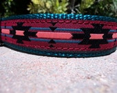 "Sale Dog Collar 1"" width Quick  Release or Martingale collar adjustable Southwest"