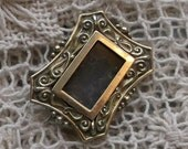 RESERVED for Patrick - SALE!! SALE!! - Antique Victorian Mourning Hair / Photo Locket Brooch - Ready to Use - 1800s