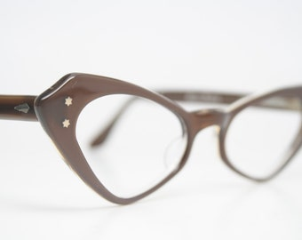 Cateye Glasses Vintage Frames cat eye eyeglasses NOS