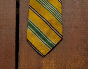 vintage Ralph Lauren untipped regimental tie