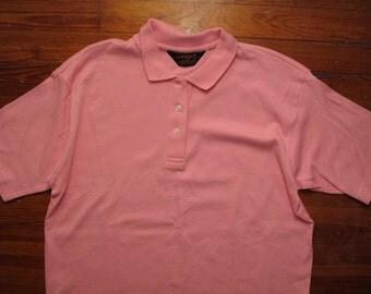 women's vintage Eddie Bauer pink polo.