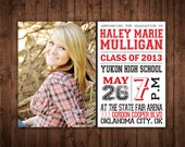 Class of 2013 Graduation Announcement - Add your own photo - Print at Home Digital File