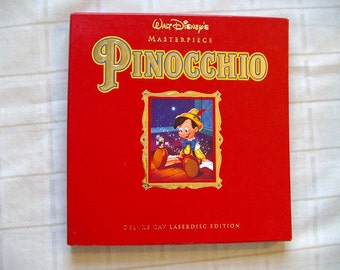 LASER DISC PINOCCHIO movie complete box set with matted lithograph Laserdisc vtg 1990s 1993