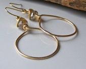 Hammered Gold Hoops, Permanent Colored Hoops, Hoops, Hammered Hoops, Metalwork Earrings, Etsy Jewelry