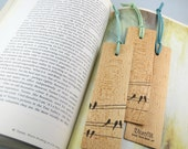 Bookmark, Wood Bookmark, Wood Bridal Shower Favor, Wood Wedding Favor