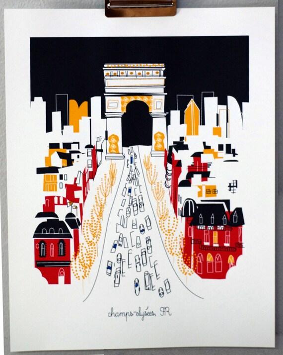 CHAMPS ELYSEES Paris ((seasonal release print))