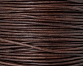 Leather-3mm Round Cord-Natural Red Brown-2 Meters