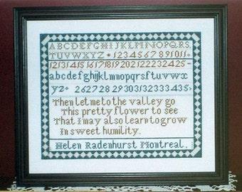 The Helen Radenhurst Sampler - Griffin Needleart Designs - Sampler Cross Stitch Chart