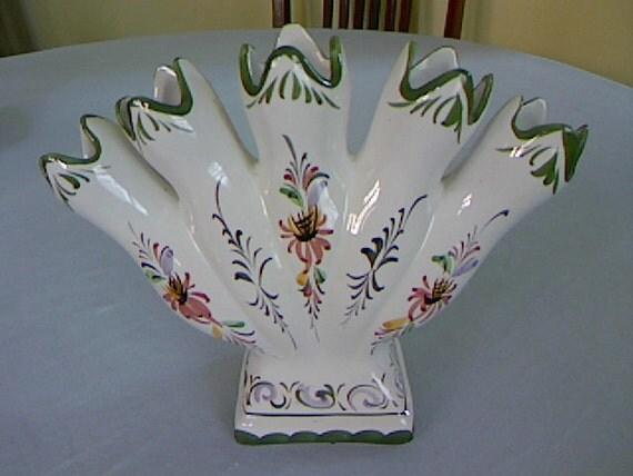 Vintage Five Finger Vase Made In Portugal By Fiordalis On Etsy