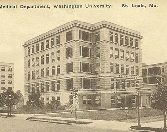 St. Louis MO Children's Hospital Medical Department Washington University on unused vintage postcard