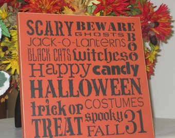 Halloween Sign - Wooden Sign - Wooden Halloween Sign