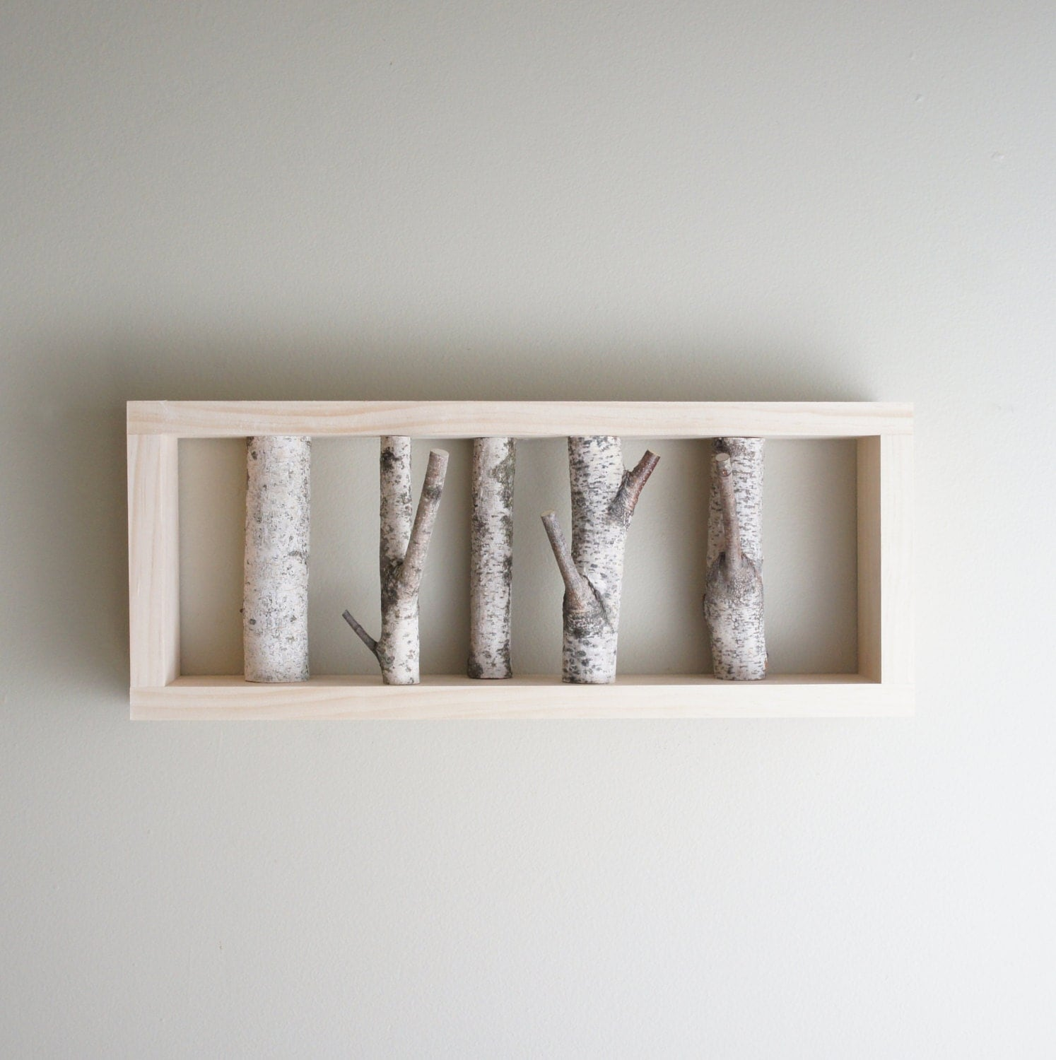 white birch forest wall art birch branch birch log wall