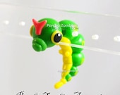 Caterpie from Pokemon stud earring fake plug