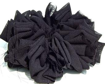 Twisted Chiffon Scrunchie in Black