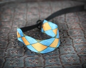 NEW Design Blue orange Argyle Wrist Strap - DSLR Wrist Strap Camera Strap