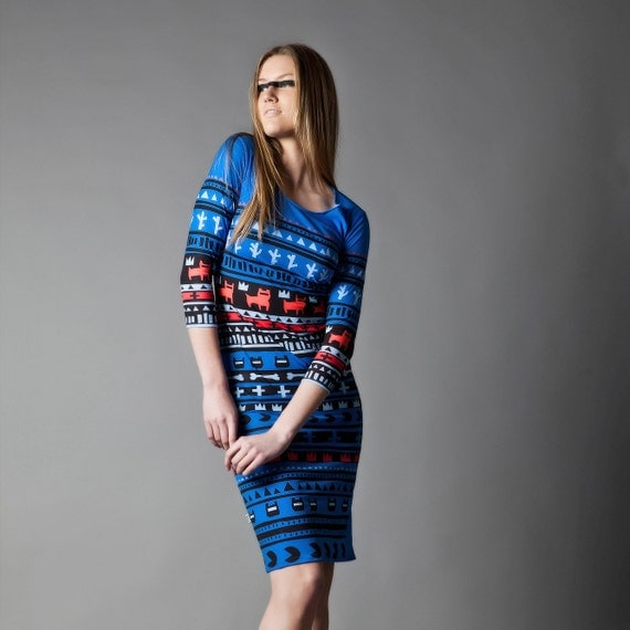 Royal Blue Tribe dress
