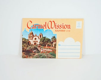 Vintage Carmel Mission Folding Postcard 1950s - Carmel California