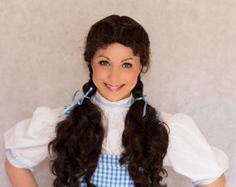 Dorothy Wizard of Oz Wig Screen Quality Couture Styled