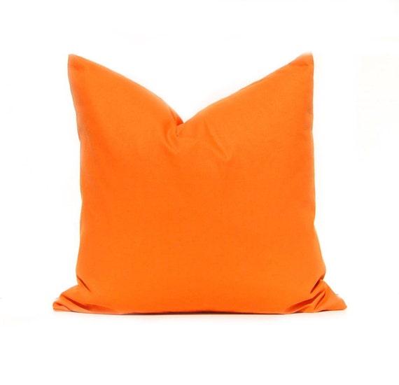 Solid Orange Decorative Pillows : Solid Orange Pillow Cover 22 x 22 Orange Throw Pillow