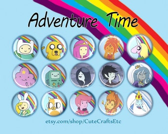 Adventure Time Buttons/Magnets 1-inch