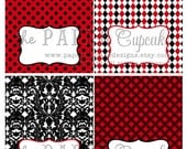 Printable Place Card / Food Tent Card Labels - Little Miss Ladybug Theme - DIY Printables by The Paper Cupcake